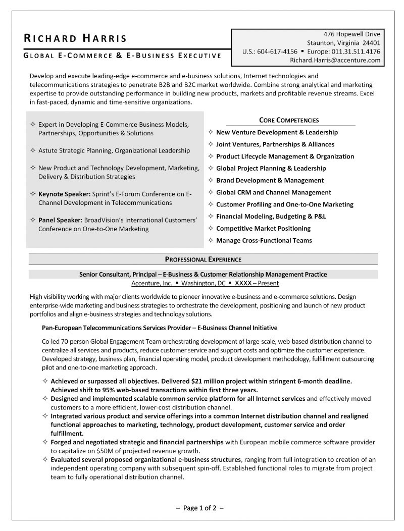 Distribution fax resume